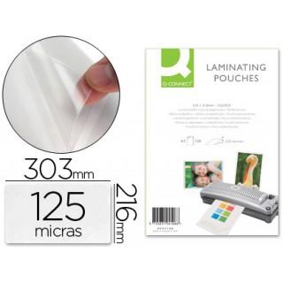 Bolsa de plastificar especial q-connect 216x303 mm 125 micrones conta-face adesiva