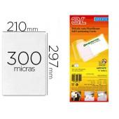 Bolsa de plastificar manual 3l office a frio 300 mc din a4 com dorso adesivo pack 10 unidades