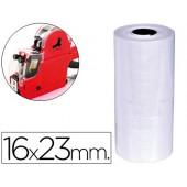 Etiquetas q-connect de cor branca 16x23 mm rolo de 700 etiquetas