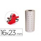 Etiquetas q-connect de cor branca 16 x 23 mm pvp rolo 700 etiquetas para etiquetadora