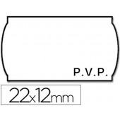 Rolo de etiquetas adesivas meto onduladas 22 x 12 mm pvp rolo 1500