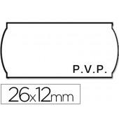 Rolo de etiquetas adesivas meto onduladas 26 x 12 mm pvp rolo 1500