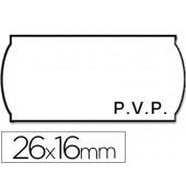 Rolo de etiquetas adesivas meto onduladas 26 x 16 mm pvp rolo 1200