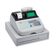 Registadora olivetti ecr 8220 s gaveta grande caixa profissional teclado plano conetavel pc e leitor codigo barras