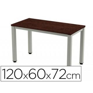 Mesa de escritorio rocada executive 200ad03 aluminio /wengue 120x60 cm