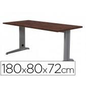 Mesa de escritorio rocada metal 2003ac03 aluminio /wengue 180x80 cm