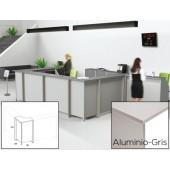 Mostrador de rececao rocada welcome curvo 5005ab02 aluminio/ cinza 68x68x118 cm