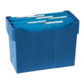 Suporte de secretária para capas de arquivo suspenso azul para dina4. capacidade 20 capas