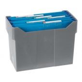 Suporte de secretária para capas de arquivo suspenso cinza