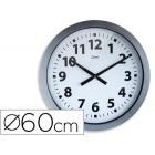 Relogio cep de parede plastico para escritorio redondo 60 cm de diametro cor cinza e circulo cor branco