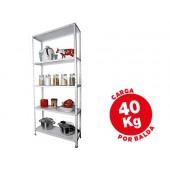 Estante metalica ar storage 170x75x30 cm 5 prateleiras 40kg por prat.e montagem com parafusos cor branco