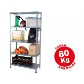 Estante metalica ar storage 180x90x40 cm 5 prateleiras 80kg por prat.e montagem com parafusos cor cinza