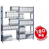Estante fast paperflow metalica 5 estantes- base