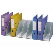 Organizador de armario paperflow cinza com 9 compartimentos fixos para arquivo 82 x 29 x 21 cm