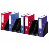 Organizador de armario paperflow preto com 9 compartimentos fixos para arquivo 89 x 29 x 21 cm