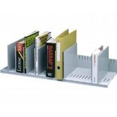 Organizador de armario paperflow cinza com 10 compartimentos ajustaveis 802 x 275 x 210 mm