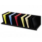 Organizador de armario paperflow cinza com 16 compartimentos fixos inclinados 802 x 310 x 206 mm