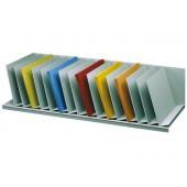 Organizador de armario paperflow cinza com 16 compartimentos fixos inclinados 912 x 310 x 206 mm