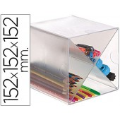 Cubo de arquivo archivo 2000 em cruzem poliestireno transparente 152 x 152 x 152 mm