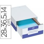 Caixa de arquivo paperflow em cartao 14 x 36.5 x 28 cm