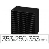 Arquivador modular cep poliestireno preto 12 departamentos 353x250x353 mm