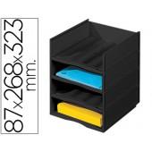 Modulo de arquivo paperflow empilhavel 87 x 268 x 323 mm na cor preta