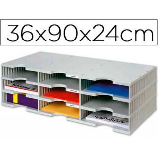 Ficheiro de arquivo archivodoc trio estandar com 9 compartimentos 360x900x240mm