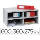 Arquivador modular archivo 2000 archivodoc duo jumbo 4 departamentos cinza 600x360x275 mm