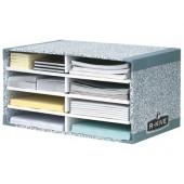 Modulo classificador cartao fellowes com 8 compartimentos 490x310x260mm