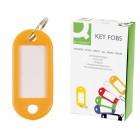 Chaveiro porta-etiquetas q-connect amarelo caixa 100 unidades
