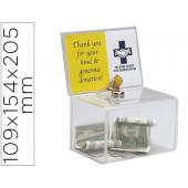 Caixa de sugestoes archivo 2000 com fechadura e duas chaves cor cristal transparente 109x154x205 mm