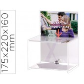 Caixa de sugestoes archivo 2000 com chave de poliestireno transparente 175x220x160 mm
