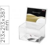 Caixa de sugestoes archivo 2000cor cristal transparente 213 x 213 x 387 mm