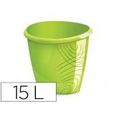 Cesto plastico cep cor verde capacidadee 15 litros