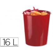 Cesto de papeis liderpapel em plastico vermelho opaco 16 litros - medidas 31 x 29 cm