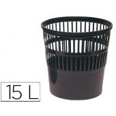 Cesto de papeis plastico preto 275 x 275 mm capacidade para 15 litros