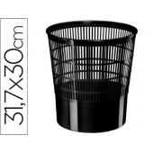 Cesto de papeis em plastico cep ecoline rede preta 30x30x31.7 cm