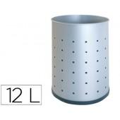 Cesto metalico sie 101-r plateado pintada perfurada 315x215 mm