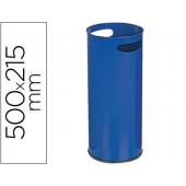 Porta guarda-chuva sie metalico com pegas azul 500 x 215 mm