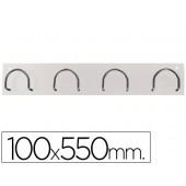 Cabide de parede sie metalico com 4 suportes na cor branco