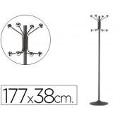 Cabide com pe sie metalico cinza com 8 suportes 177 x 38 cm