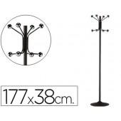 Cabide com pe sie metalico preto com 8 suportes 177 x 38 cm
