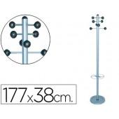 Cabide metalico sie 626 com porta guarda chuva -pie 8 ganchos 1.77x38 cm