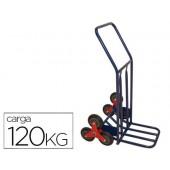 Carro de mao para escadaria com 6 rodas medidas 1160x600x800 mm carga de 120 kg