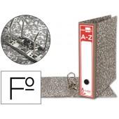 Pasta arquivo liderpapel classic red cartao forrado folio gaspeada cinza sem caixa