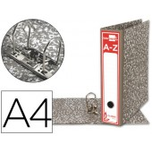 Pasta arquivo liderpapel classic red cartao forrado din-a4 gaspeada cinza sem caixa
