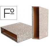 Caixa para pasta de arquivo liderpapel classic red folio marmoreada cinza