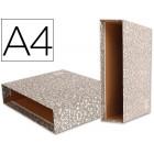 Caixa para pasta de arquivo liderpapel classic red a4 marmoreada cinza
