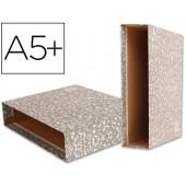 Caixa para pasta de arquivo liderpapel classic red quarto marmoreada cinza