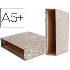 Caixa para pasta de arquivo liderpapel classic red quarto ao baixo marmoreada cinza